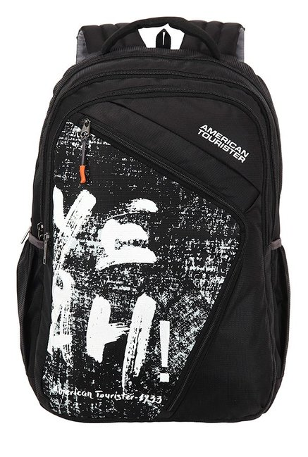 American Tourister Volt Black & White Printed Backpack
