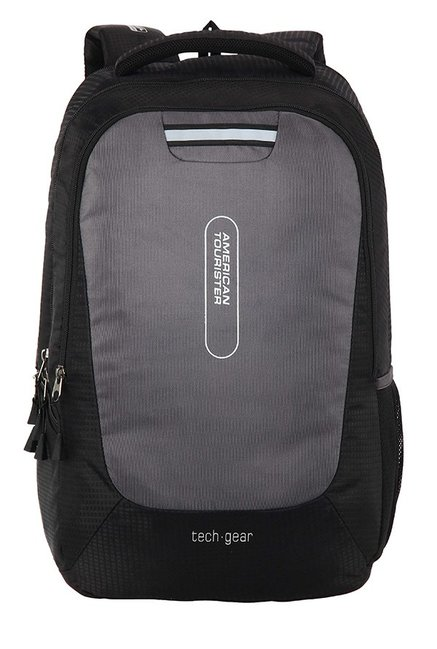American Tourister Tech Gear Black & Grey Textured Backpack