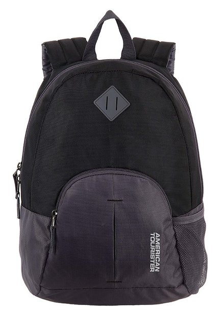 American Tourister Hoop Black & Grey Backpack