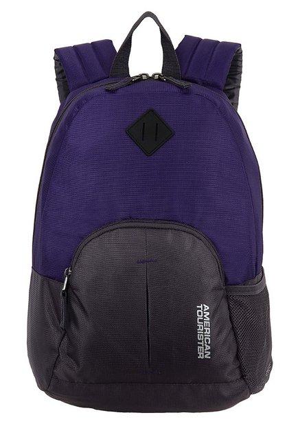 American Tourister Hoop Purple & Black Backpack