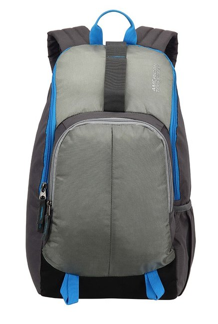 American Tourister Fit Grey Textured Polyester Backpack