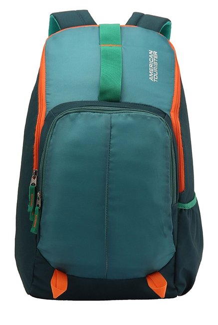 American Tourister Fit Teal Green Textured Backpack