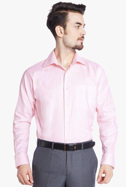 9f5efae97d0 Buy Raymond Light Pink Full Sleeves Shirt for Men Online   Tata CLiQ