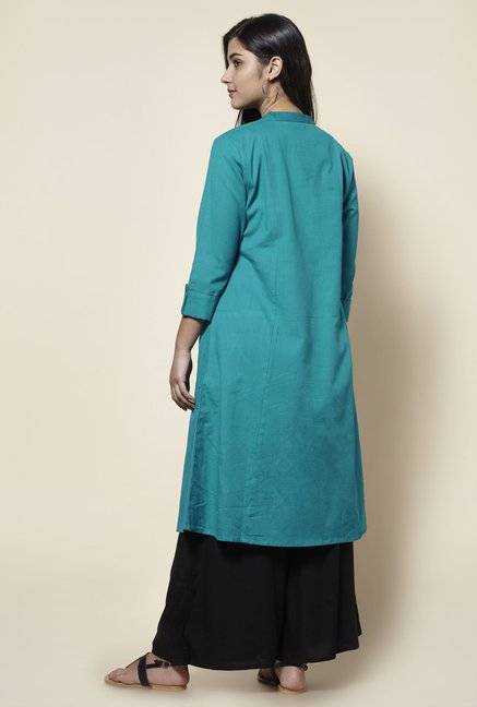 Zudio Teal Kurta