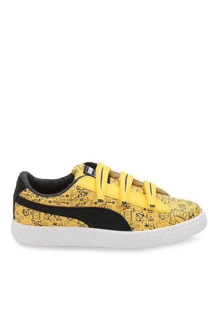 Buy Puma Minions Basket V PS Yellow   Black Sneakers for Boys at Best Price    Tata CLiQ 56b083924