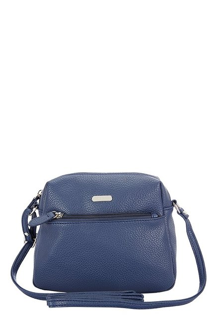 491ac125e1d Buy Lavie Sara Navy Solid Sling Bag For Women At Best Price   Tata CLiQ