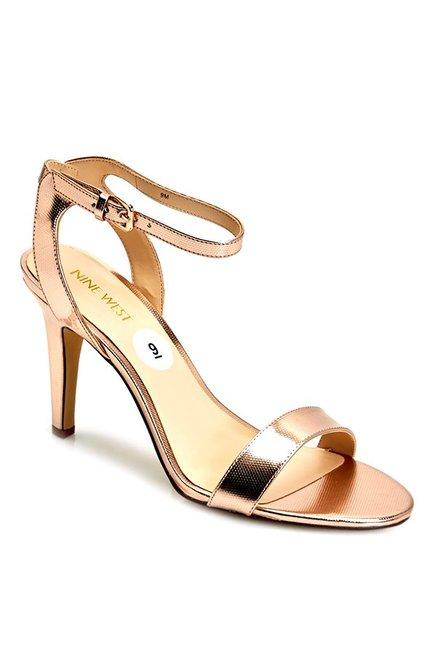 3af2d5cc0cab Buy Nine West Nwaniston Rose Gold Ankle Strap Stilettos for Women at Best  Price   Tata CLiQ