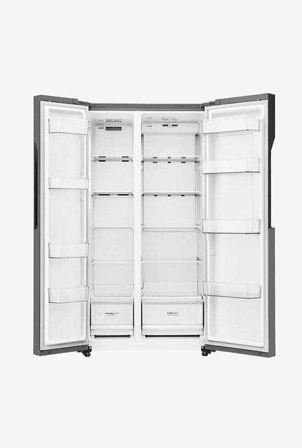 LG GC-B247KQDV 679L Side by Side Refrigerator (Dazzle Steel)