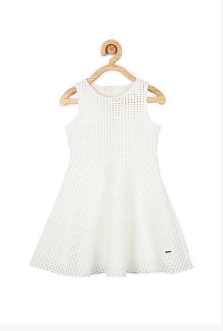8ce85ba562 Buy Solly By Allen Solly White Cut Work Dress for Girls Clothing ...