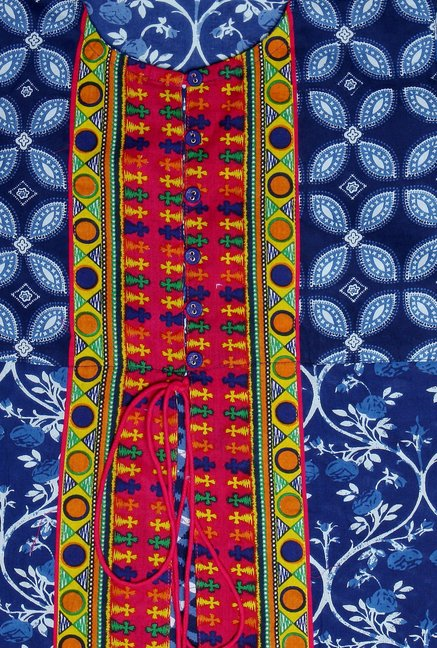 Varanga Blue Printed Cotton Kurta