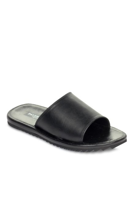 1ae4d08000f04 Buy Pavers England Black Mule Sandals for Men at Best Price @ Tata CLiQ