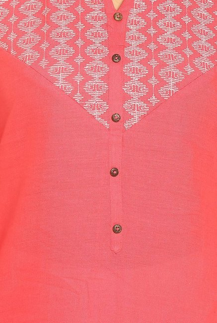 Soch Coral Embroidered Cotton Kurta