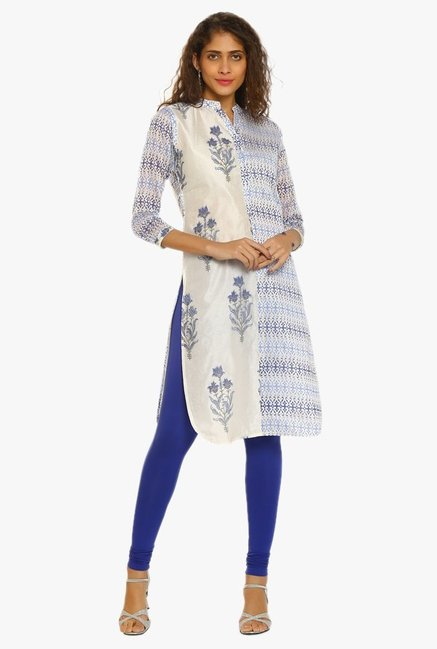 Soch Cream Printed Chanderi Kurta