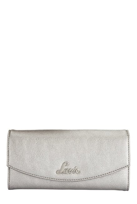 Lavie Roma Silver Solid Flap Wallet