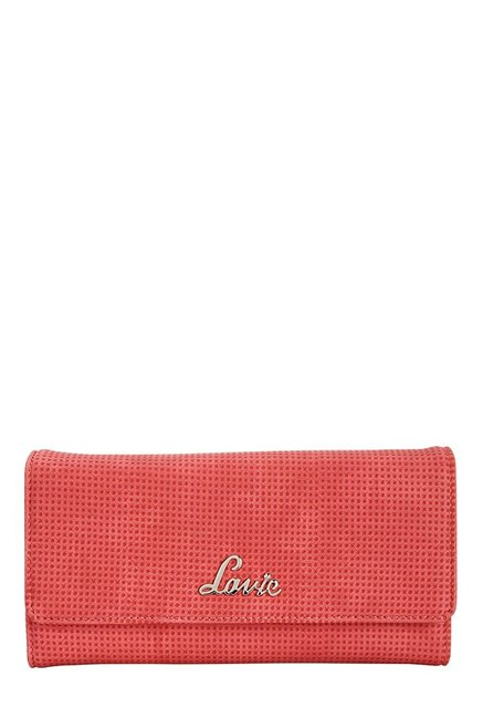 Lavie Roma Red Textured Flap Wallet