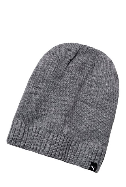 cc68e076496 Buy Puma Active Slouchy Grey Heather Solid Polyester Beanie Online At Best  Price   Tata CLiQ