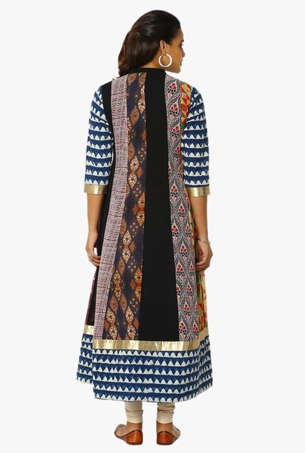 Soch Multicolor Printed Georgette Kurta