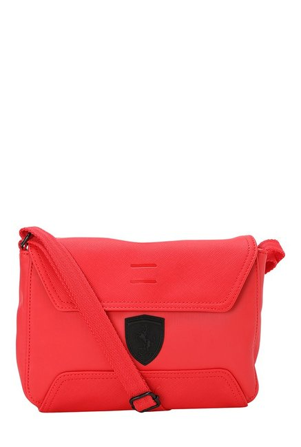 0db2b123d5 Buy Puma Ferrari LS Rosso Corsa Solid Messenger Bag For Women At Best Price  @ Tata CLiQ
