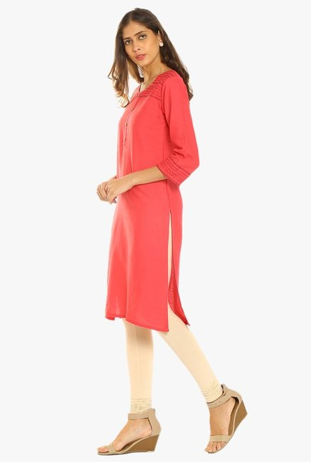 Soch Coral Regular Fit Cotton Kurta