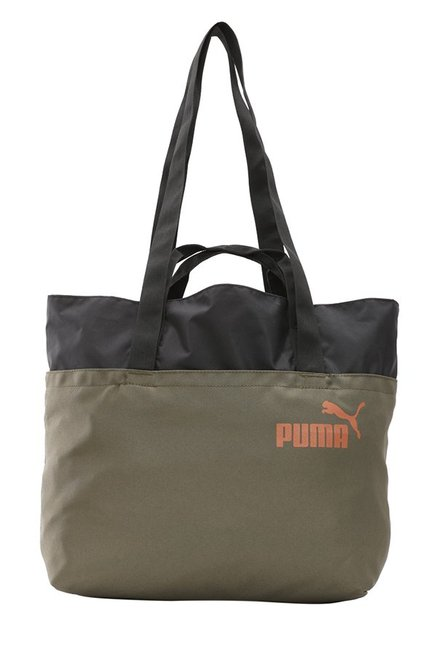 ce90eee83d Buy Puma Core Style Olive Night Solid Polyester Shoulder Bag Online At Best  Price   Tata CLiQ