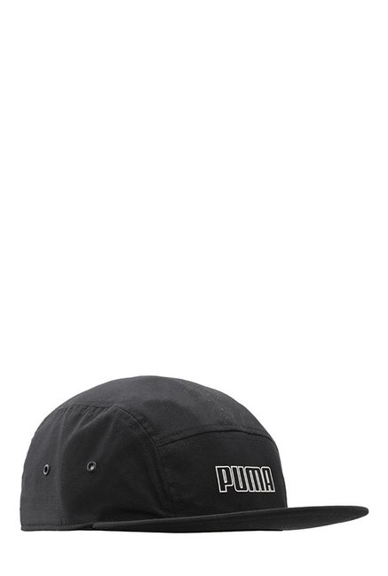 fda798e3efb Buy Puma Archive 5 Black Solid Polyester Panels Cap Online At Best ...