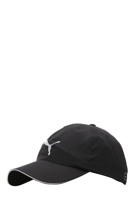 04d567f1698 ... best price puma black solid polyester running cap f7304 b3e41