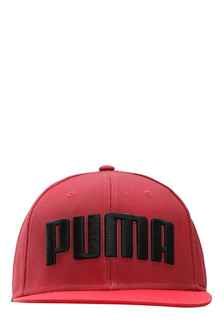 63c48f33808 ... various colors 84fe2 3f500 Puma ESS Flatbrim Toreador Red Solid  Polyester Gus Cap ...