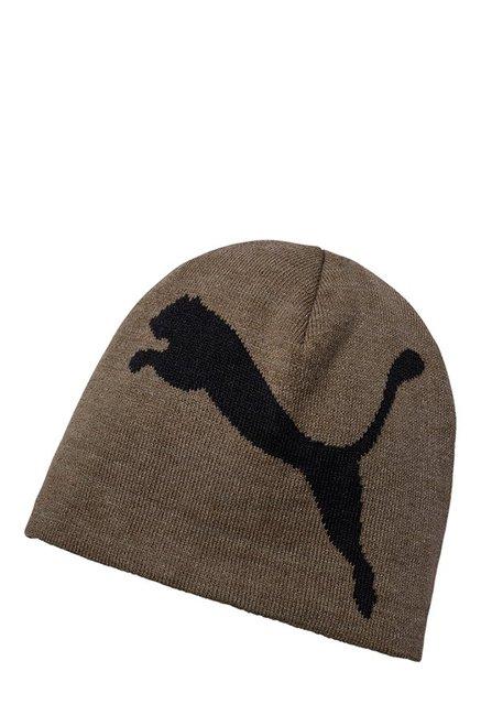 529e4ad183b Buy Puma ESS Big Cat Brown Solid Cotton Beanie Online At Best Price   Tata  CLiQ