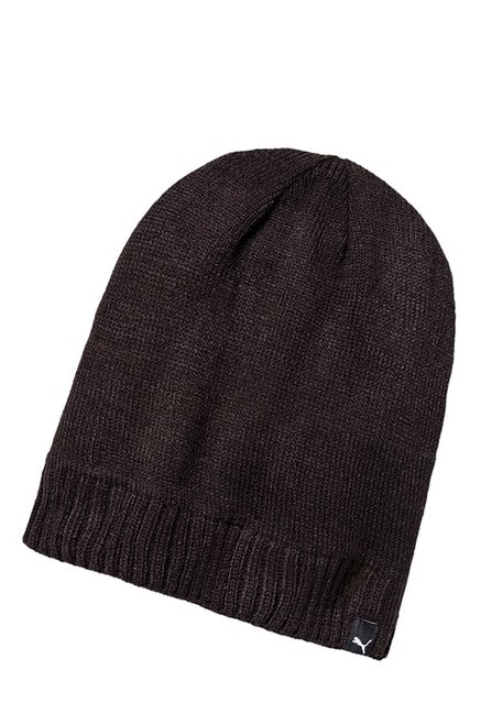 158858aa6d7 Buy Puma Active Slouchy Black Solid Polyester Beanie Online At Best Price    Tata CLiQ