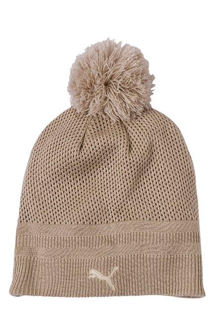 Buy Puma Ferrari LS Beige Solid Fabric Bobble Hat For Women At Best Price    Tata CLiQ b2cf0080f