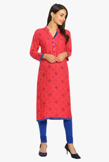 Soch Coral Printed Cotton Kurta