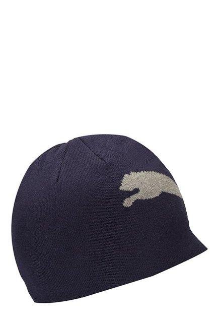 0d713562d74 Buy Puma ESS Big Cat Black Solid Cotton Beanie Online At Best Price   Tata  CLiQ