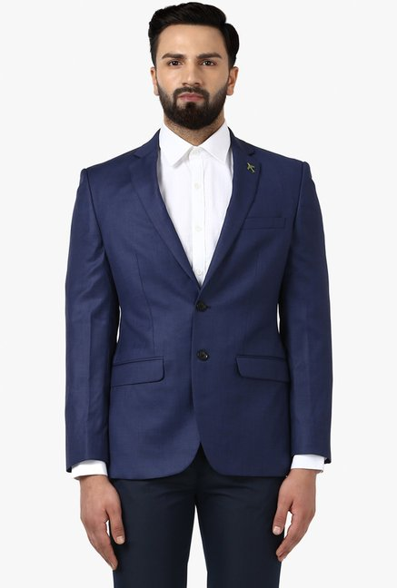 c75f4ecfb Buy Raymond Navy Slim Fit Suit for Men Online   Tata CLiQ