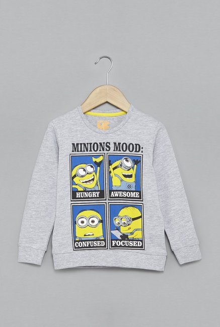 a1fb1601f Buy HOP by Westside Grey Minion T-Shirt for Boys Clothing Online @ Tata CLiQ