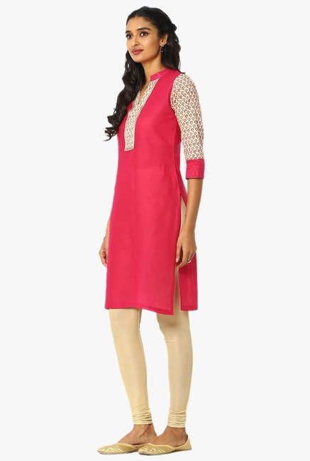 Soch Pink Regular Fit Cotton Kurta