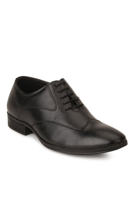 Red Chief Black Oxford Shoes for Men