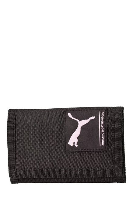 7bfb55c05271 Buy Puma Academy Black Solid Polyester Tri-Fold Wallet For Men At Best  Price   Tata CLiQ