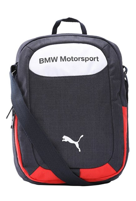 Puma BMW Motorsport Navy & White Solid Polyester Sling Bag