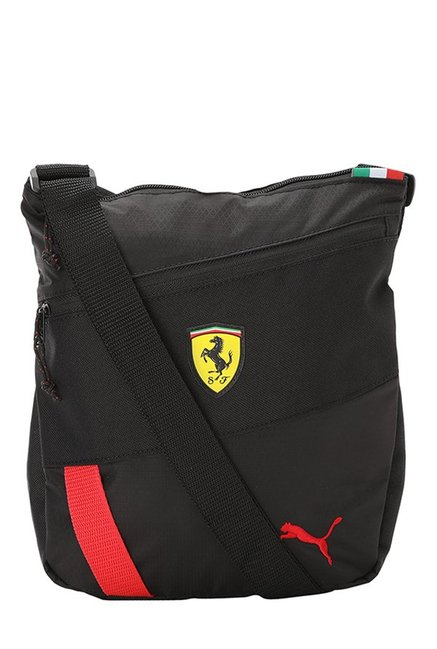 Buy Puma Ferrari Fanwear Black Textured Nylon Sling Bag Online At Best  Price   Tata CLiQ ab9a026af471a