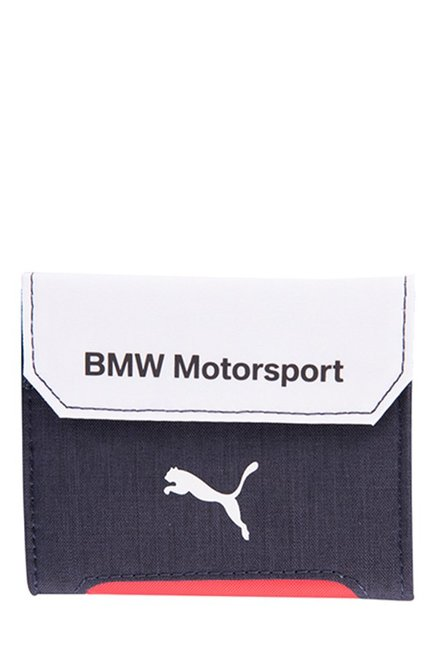 Puma BMW Motorsport Navy & White Solid Tri-Fold Wallet