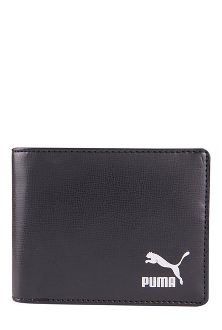 Puma Originals Billfold Black Solid Bi-Fold Wallet