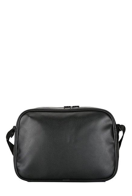 Buy Puma Ferrari LS Reporter Black Perforated PU Sling Bag For Men ... ddeaefc008dde