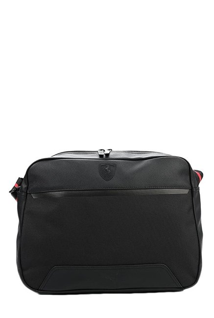 Buy Puma Ferrari LS Reporter Black Solid Laptop Messenger Bag Online At  Best Price   Tata CLiQ fc6967906