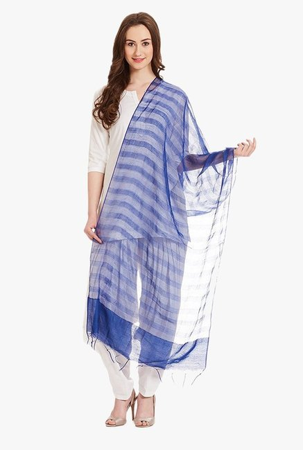 50e83c6609 Buy Aurelia Blue Viscose Dupatta for Women Online @ Tata CLiQ
