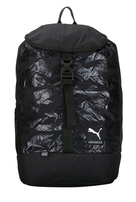 67fe048a6b9f Buy Puma Academy Black   White Printed Nylon Laptop Backpack For Women At  Best Price   Tata CLiQ