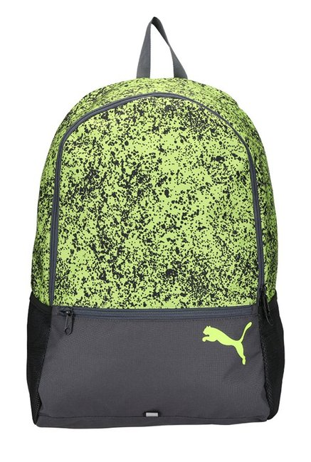 Buy Puma Alpha Safety Yellow   Black Printed Laptop Backpack For ... 5efd748bc187f
