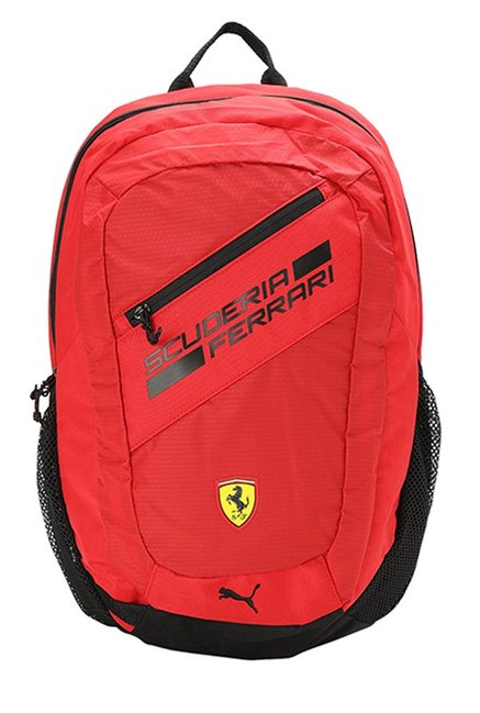6035a4fdfc Buy Puma Ferrari Fanwear Rosso Corsa   Black Laptop Backpack Online At Best  Price   Tata CLiQ