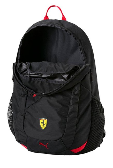 Buy Puma Ferrari Fanwear Black Textured Laptop Backpack Online At ... 45055d140b