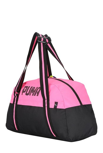 25af273846 Buy Puma Fundamentals Black   Knockout Pink Color Block Gym Bag For ...