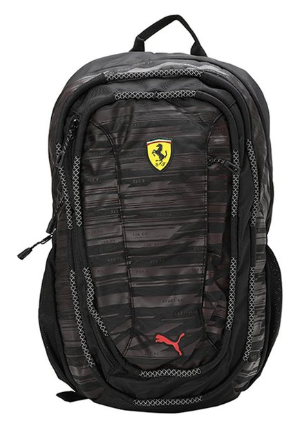 Buy Puma Ferrari Transform Black   Dark Brown Laptop Backpack Online At  Best Price   Tata CLiQ 661ac1d1046d7